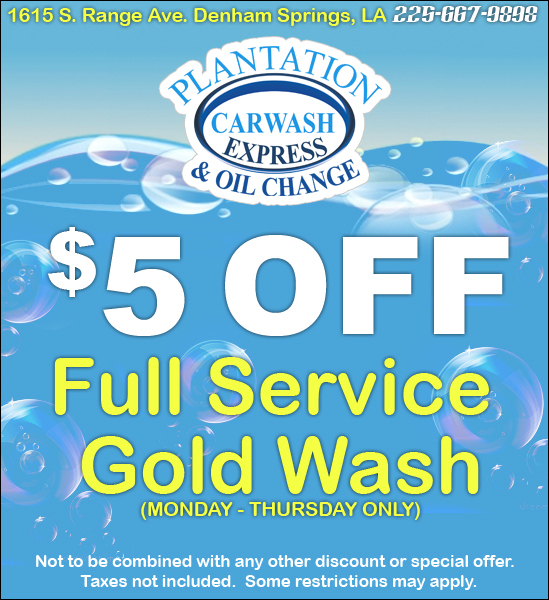 Oil change and car wash specials 13
